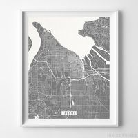Tacoma, Washington Street Map Vertical Print by Inkist Prints - Available at https://www.inkistprints.com