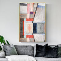 Geometric art Abstract acrylic Paintings on canvas Original Extra large wall art framed painting wall pictures home decor cuadros abstractos $123.75
