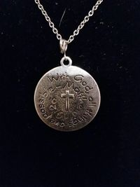 With God All Things Are Possible Silver Pendant Necklace $5.00