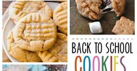The best back to school cookies! Perfect for the lunchbox