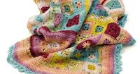 Love the colours in this Babette blanket. Pattern for edging here too.