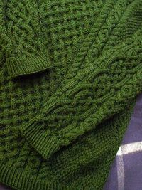 Ravelry: Double moss stitch sweater