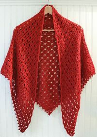 Lace Shawl With Beaded Edging By Kara Gunza - Purchased Crochet Pattern - (ravelry)
