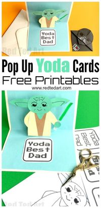 Yoda Best Dad - such a fabulous 3D Pop Up Father's Day Card DIY. Suitable not just for Father's Day but for any Star Wars fan. Includes Free Printables.