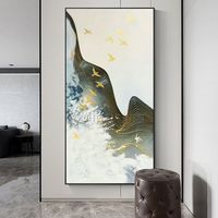 Gold art mountain river painting acrylic paintings on canvas extra Large framed wall art Wall Picture Home Decor caudros abstractos $140.00