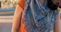 Accola Shawl ....this would be perfect for me....looks like a scarf...very stylish... would make a great adult bib..or I could just carry a nondescript color like black in my purse...no one would ever know the food stain its covering!!!....love it!