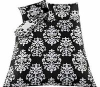 Eve Damask Black Bedding Set - Single Bring some elegance to your bedroom with this stylish Eve Damask Black Duvet Cover Set. This set includes a duvet cover and pillowcase. Set includes 1 duvet cover and 1 pillowcase. Machine washable. M http://www.compa...