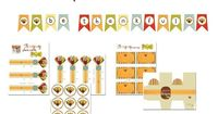 Thanksgiving - Free Printables: Banners, favor boxes, gift tags, place cards, etc.