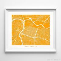 Sacramento, California Street Map Horizontal Print by Inkist Prints - Available at https://www.inkistprints.com
