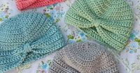 Crochet these cute turbans for baby in different colors and have them be stylish every day of the week.