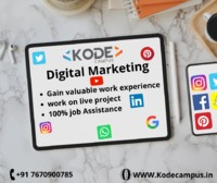 hello there,  kode campus is provides digital marketing certification course with best training institute programmes, live projects and gives you real-time work experience. end of the course, you be the capable dealing all concepts and we assure you with...