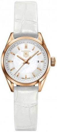 TAG HEUER MOD. CARRERA LADY WATCH ROSE GOLD MOP 27 MM $8200.00