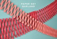 Paper Net Garland DIY