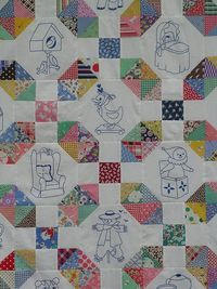 Simple Objects Quilt Top
