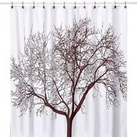Tree Brown Fabric Shower Curtain - I use 2 of these as real curtains for my window.