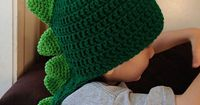 crochet dinosaur hats | Dinosaur Crochet Hat with Long Tail- 3 years-Adult sizes- Made to ...