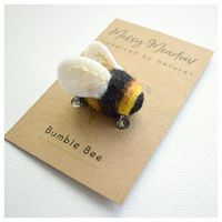 My popular needle felted bumble bee is now available as a pin/brooch, as well as a bag charm and key ring. So you can attach him to whatever you like! Link in profile. #needlefelting #bumblebees #crafts #wool #felting #nature #lovebees #savethebees #etsy ...