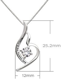 Swarovski Crystals Mother and Son Forever Love - Pave Heart Necklace $16.00 Free Shipping