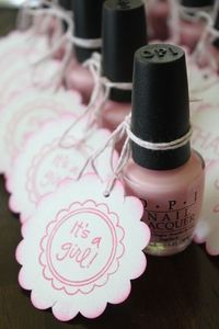 Girl baby shower favors
