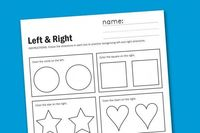 Left and Right Worksheet http://www.supermommoments.com/2011/07/directional-worksheet/