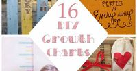 """16 darling (and easy!) DIY growth charts (loving the """"Practically Perfect in Every Way"""" one :-) Remember the ones at the Oak Street House"""