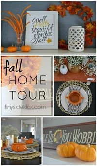 Fall decorating ideas from 20+ home decor bloggers. Come tour our homes and get great ideas for your fall decor.