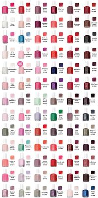 Essie color chart �
