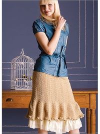 """Herringbone Skirt""...pattern available to buy from Interweave/"
