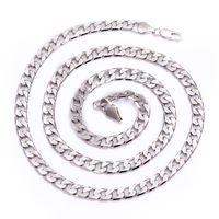 Men's Luxury Silver Plated 6mm Look & Feels Real Bling Curb Chain Necklace £19.68