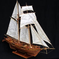 3D wooden Puzzle,Antique Battleship Model,Sailboat Assembly Kit $117.80