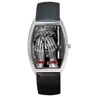"""Dr Who Weeping Angel """" Dont Blink"""" on a Mens or Womens Barrel Watch with Leather Band $32.00"""