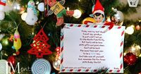 Elf on the Shelf day 25 - Twenty Five - Goodbye letter....