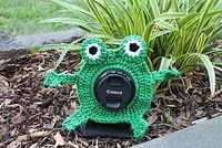 Shutter Buddies - Free crochet pattern by Carlee Fisher. There's also a flower and a funky looking critter.