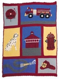Image of Crochet Commemorative Fire Fighter Throw