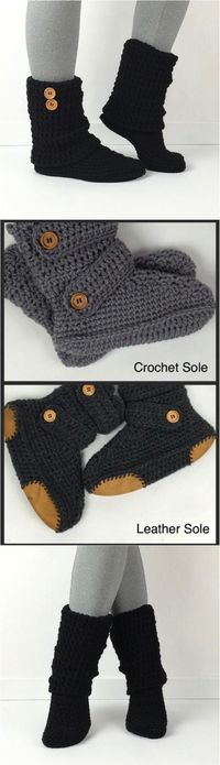These crochet booties are so comfy! They're like the best socks ever but you can wear them outside!! | Made on Hatch.co by independent makers & artists