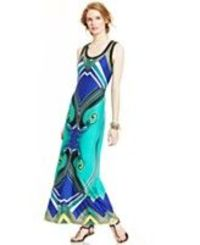 NY Collection Sleeveless Printed Maxi Dress
