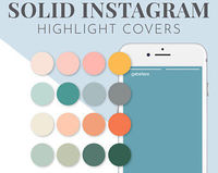 50 Solid Bright Instagram Highlight Cover   Highlight Cover   Social Media   Instagram   Highlights Cover   Instagram Icons  Social Media