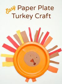 Practice those cutting skills with this easy paper plate turkey craft that is perfect for toddlers and preschoolers.