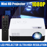 J9A Mini LED Projector 1080P Portable Pocket 3D HD Home Cinema Theater HDMI USB SD
