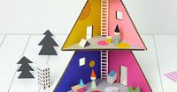 Make your kids a colorful Christmas tree doll house with this how-to.
