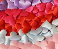 Pack of 100 Tiny Fabric Heart Appliques. Different Colours Available. 15mm x 20mm. £5.39