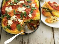 Eat Like a Runner. 10 Healthy Recipes from Runner's World (Shown: Grilled Vegetable Polenta Casserole)