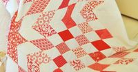 Love Joanna's red and white quilt she is making for a Charity quilt show.