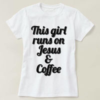 This Girl Runs On Jesus & Coffee T-shirt, Funny Coffee T-shirt, Jesus Shirt, christian Shirt, Jesus Shirt, Ladies Unisex Crewneck T-shirt $16.50