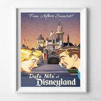 Disneyland Date Nite Print by Inkist Prints - Available at https://www.inkistprints.com
