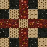 Five Patch Chain Quilt Block Pattern - Free and Easy Quilt Block Patterns from About.com Quilting