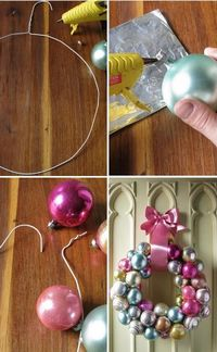 DIY ornament wreath - Click image to find more DIY & Crafts Pinterest pins