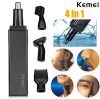 Kemei 4 in 1 Nose Hair Beard Eyebrow Rechargeable Electric Trimmer Electric Nose Trimmer Ear Shaver