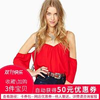 Oversized Sexy Open Back Off-the-Shoulder 1/2 Sleeves Chiffon Crop Top Strappy Top - Bonny YZOZO Boutique Store