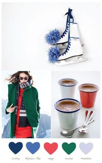 A festive color palette inspired by the 2014 Winter Olympics by The Sweetest Occasion